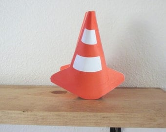 3D Traffic cone table decoration, 4 sided traffic cone