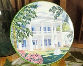 Southern Belle Plantation Estate Vintage Tin with Lime Green Base and Summer Flowers