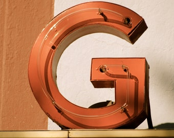G, Letter G, last name, Georgia Theater, downtown Athens, Ga, print, photography, wall art, vintage look,  8x10
