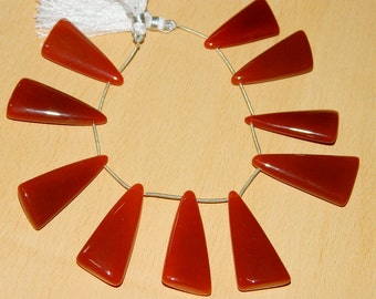 AAA Red Onyx- chalcedony Smooth cut plain Fancy shape-Wholesale Price-Chalcedony Beads-Large size