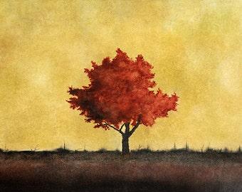 "Art print // Orange tree // ""February"""