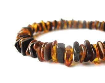 Men's beaded bracelet - shell bracelet for men - Forest Fire