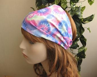 Hippie Headband Head Wrap Dreadband Fabric Headband Womens Bandana Tie Dye Headband Swirl Cotton Print Hair Accessory Womens Gift for Her