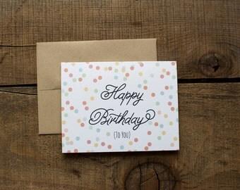Happy Birthday Bright Confetti Card