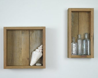 Reclaimed Wood Shadow Box / Shelf