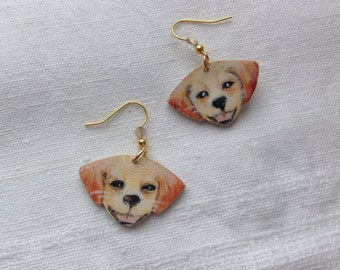 Smiling puppies earrings