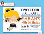 Cheerleader Birthday Invitations -Printed Birthday Invitations - Custom Invitations Invitations - Printed Invitations - Custom Invitations