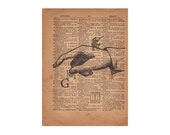 Letter G Dictionary Print, Sign Language Typography, 1800's Wall Art, Antique Page