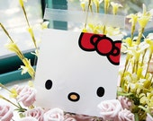 Japanese Adhesive Sealable Gift Bag Set - Hello Kitty (medium)   x 20pcs