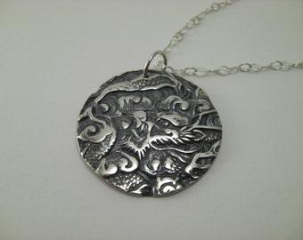 Dragon Pendant 999.9 pure silver