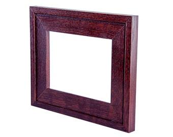 "Mission style 6"" x 8"" Morris quarter-sawn fumed White oak frame"
