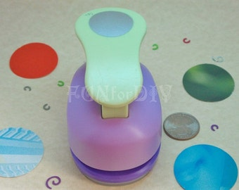 38mm extra large size lever type paper punch -- circle