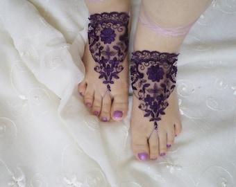 Sandals, Beach wedding shoes, barefoot sandals, Foot jewelry, Gift İdeas,  Wedding Shoes, bellydance accessories