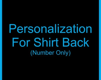 Personalization For Shirt Back - Number