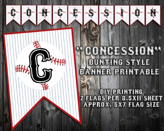 Irresistible image with concession stand signs printable