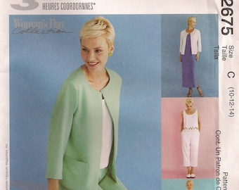 McCall's Sewing Pattern 2675 - Misses' Jacket, Dress or Top, Pants (8-12, 10-14, 12-16, 20-24)