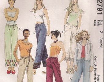 McCall's Sewing Pattern 2791 - Misses' Pull-on Pants in Two Lengths (16-22)