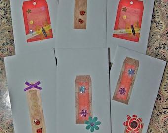 6 Paper Cash Envelopes. Money Envelopes. White cash envelopes.