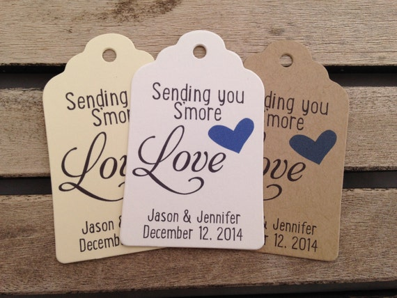 When To Send Wedding Gift: Wedding Gift Tags Sending You S'more Love Wedding