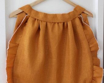 reversible apron PDF sewing pattern printable ruffly vintage inspired fashion