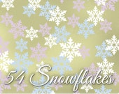 Snowflake Decals in 3 Colors - Winter Wall Pattern, Vinyl Wall Decals, Holiday Decor