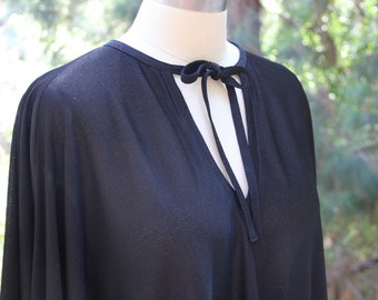 Vtg black sheer circle dress