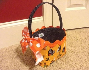 Halloween basket / Easter basket / Gift basket / Sewing instructions / Pattern / PDF Pattern / Sewing tutorial