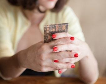 Illustrated Cork Cards Wallet