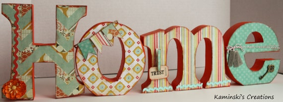HOME Decorative Letters