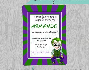 Joker 5 X 7 Digital Invitation