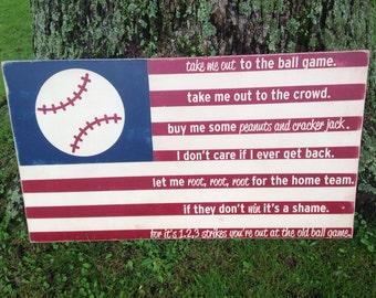 24x44 Baseball American Flag