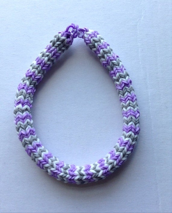 Items Similar To Purple White And Gray Hexafish Rubber