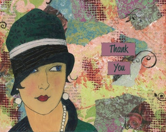 Thank You Card - 1920's Paris Style