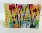 """Greetings from Vermont 4"""" x 6"""" Blank Notecard"""