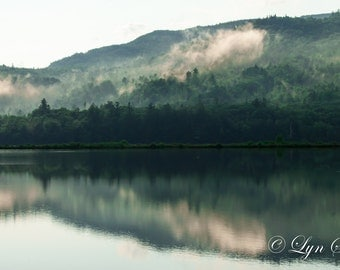 Mirror Pond -  Art, Nature photography, landscape, summer, spring, fine art print, storm, mountains, pond, new Hampshire, New England