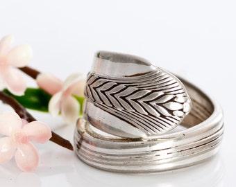 Vintage Spoon Ring - Allure Silverware Spoon Ring - Silverware Spoon Ring - Spoon Jewelry - Spoon Ring - Silverware Spoon Jewelry (mcf R105)