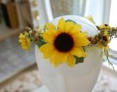 Fairytale Sunflower hair wreath