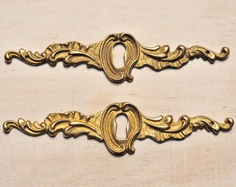 Keyhole Brass Escutcheon Ornate