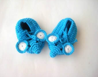 crochet baby shoes, turquoise blue elephant Baby Booties, baby slippers, baby animal shoes 0 12 month baby boy shoes socks, baby shower gift