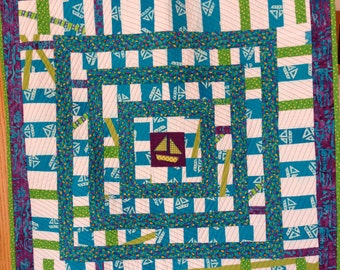 Fish and Ships Baby Quilt