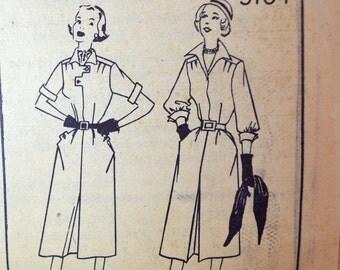 1950s Vintage Simplicity Pattern 3704 Misses One Piece Dress size 18 bust 36