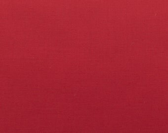 60 Inch Poly Cotton Broadcloth Red Fabric by the yard - 1 Yard