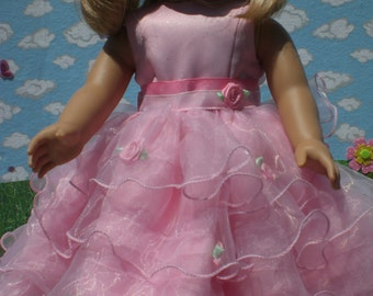 Scarlet O'Hara Dress in Pink for 18 inch Doll