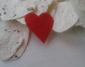 Groeipapier harten confetti, huwelijk, hand gemaakt gerecycled papier, groeipapier met biologische wilde bloemen zaden, DIY, 40 stuks