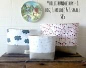 Storage Basket -  Billi Bundle Buy - Your choice of fabric