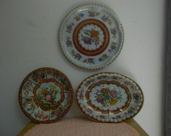 Three Gorgeous Dahar Bowls and Platter / Great condition / Collectible