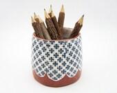 Patterned Pottery - Succulent Planter - Storage Pot - Terracotta Planter - Plant Pot - Ceramic Planter
