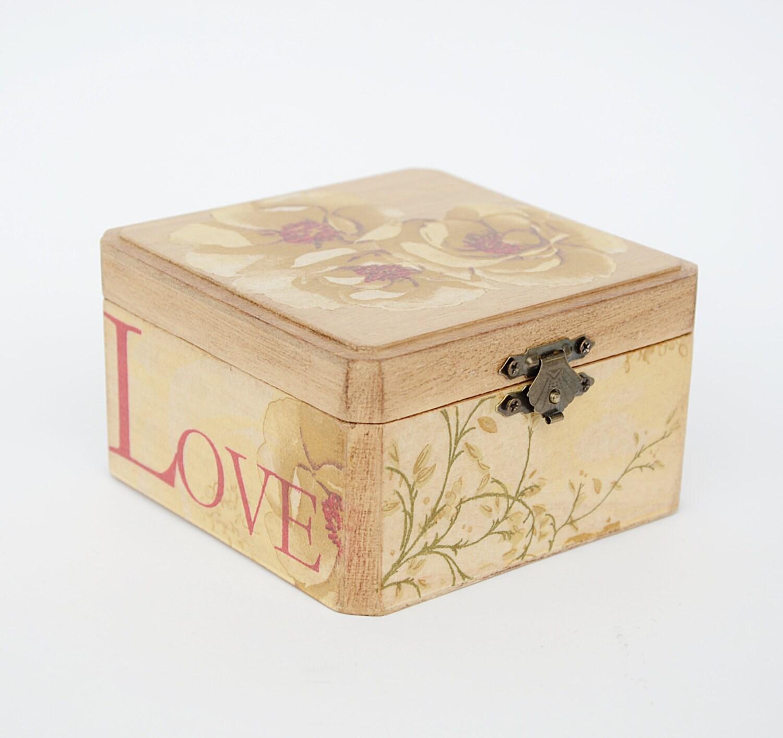 Rustic Ring Bearer Box Wedding Ring Bearer Pillow Box