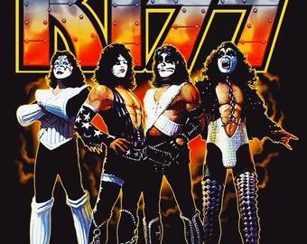 KISS 1977 Love Gun Album Stand-Up Display