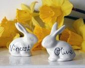 Bunny, personalised porcelain decoration